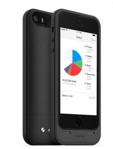 Mophie Space Pack Speicher-Hülle iPhone schwarz