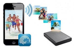 Seagate Wireless Plus WLAN Festplatte Datenübertragung iPhone