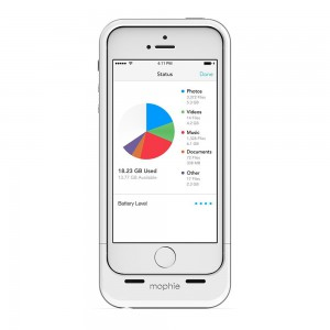 Mophie Space Pack iPhone Speicher Hülle weiß mit weißem iPhone