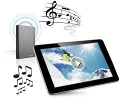 Seagate Wireless Plus WLAN Festplatte streamt an iPad